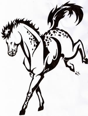 Jumping Tribal Horse T...