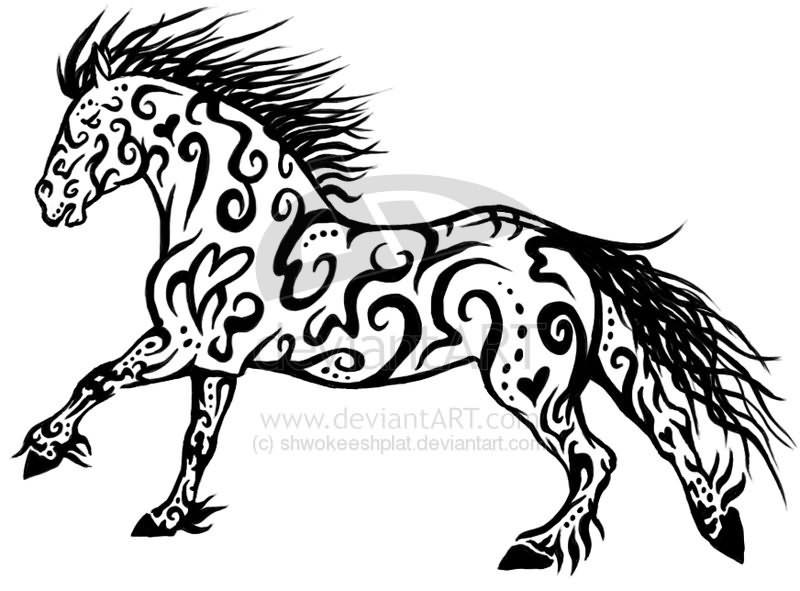 tribal animals tattoo Horse Design Tribal Tattoo