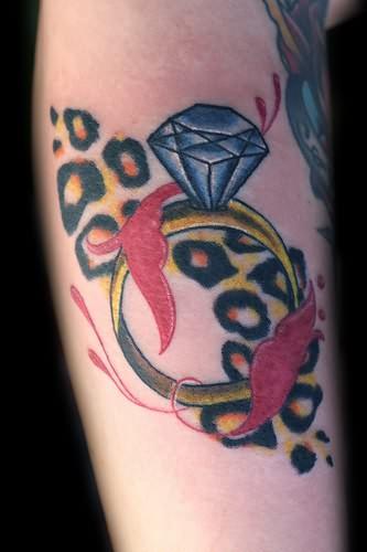 diamond ring leopard spots tattoo. Black Bedroom Furniture Sets. Home Design Ideas