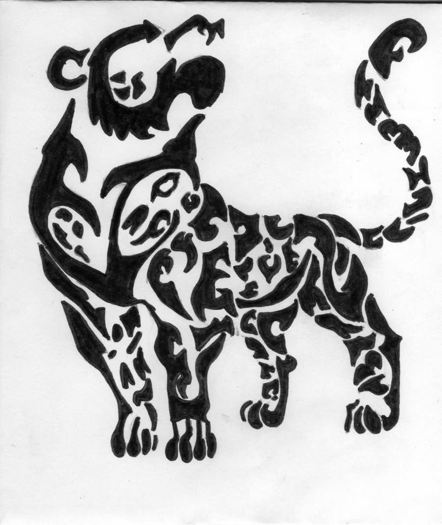 Tribal Leopard Tattoo Design