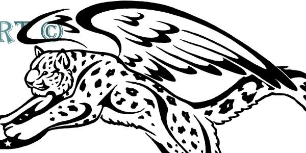 Winged Snow Leopard Tattoo