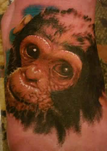 Realistic monkey tattoo for Baby monkey tattoos
