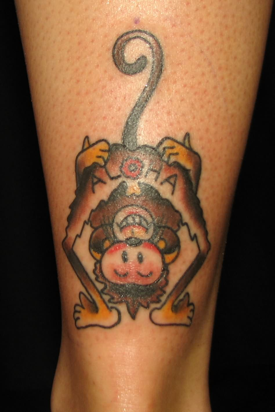 best tattoos ever seen monkey tattoo designs. Black Bedroom Furniture Sets. Home Design Ideas