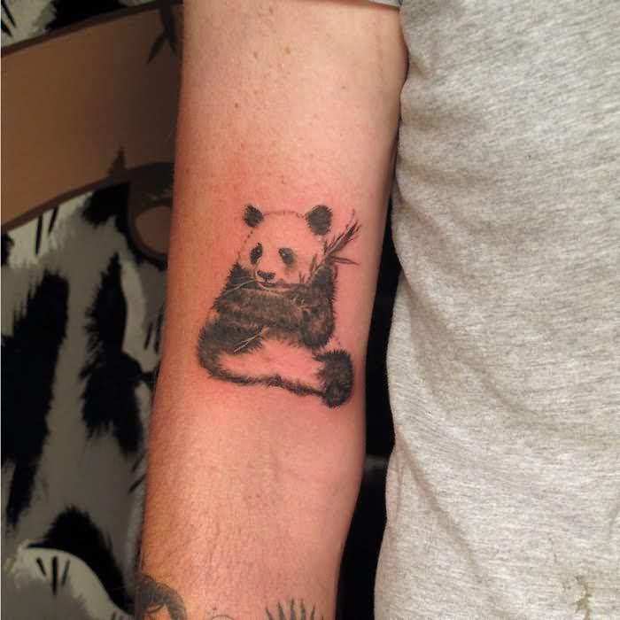 Cute Panda Tattoo On On Joint