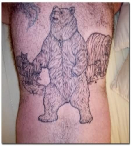Teddy Bear - Panda Tattoo