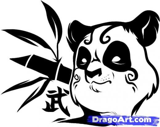 Tribal Panda Tattoo Drawing