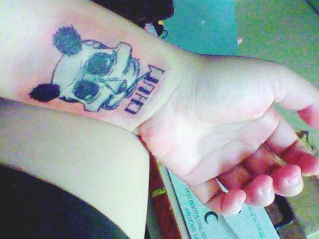 Wrist Panda Tattoo