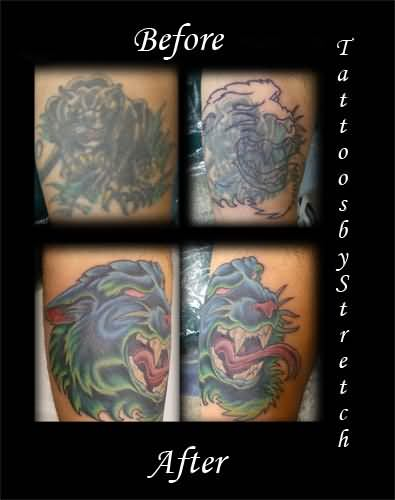 Coverup Panther Tattoo
