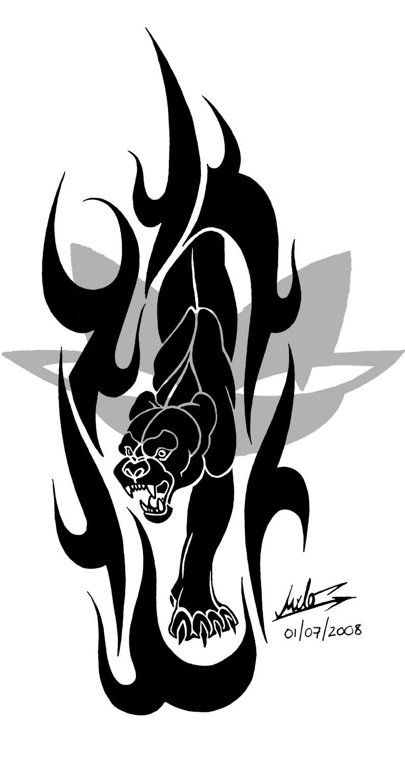 Black Panther Tattoo Flame Tattoo Designs Black
