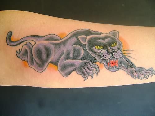 Black Panther Tattoo Panther Tattoo on Black Waist