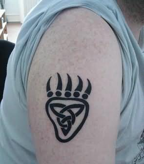 Bear Paw Tattoo On Shoulder