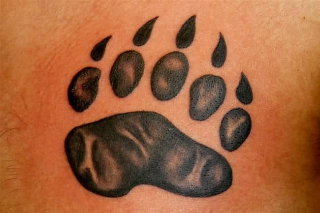 Simple bear tattoos for Pictures of bear paw tattoos