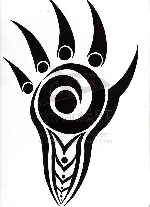 Tribal bear claw tattoo designs for Tribal claw tattoo