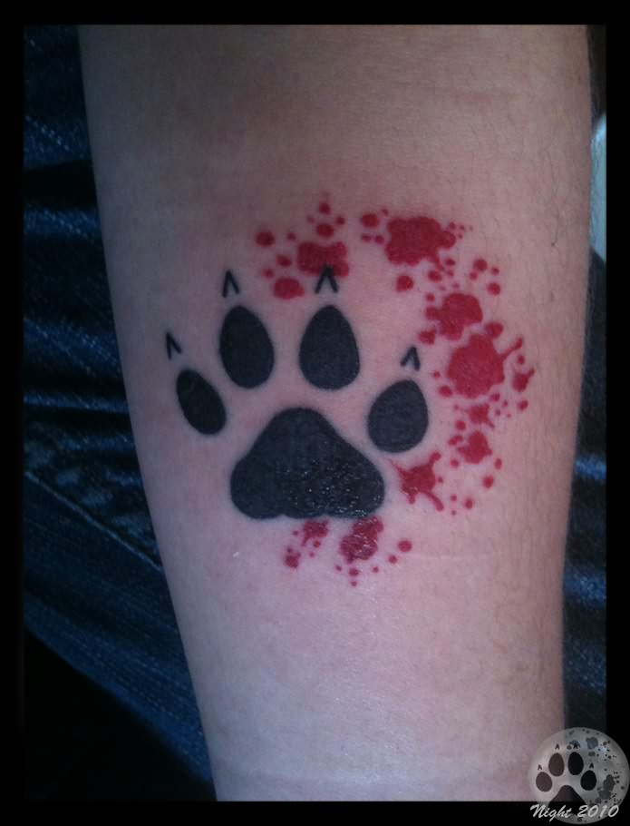 Paw tattoo images designs for Blue blood tattoo