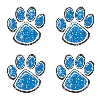 Blue Glitter Paw Print Temporary Tattoo