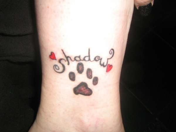 Cat Paw Shadow Tattoo