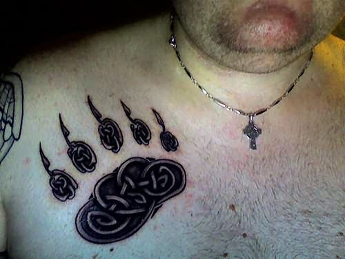 Bear Chest Tattoo Celtic Bear Paw Tattoo On