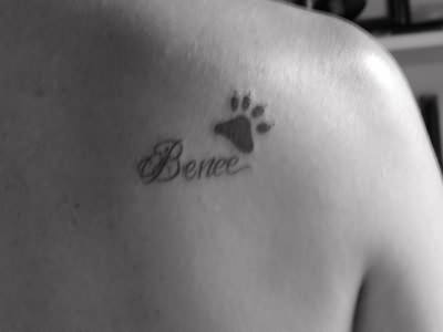 Frank Sinatra Paw Tattoo On Back