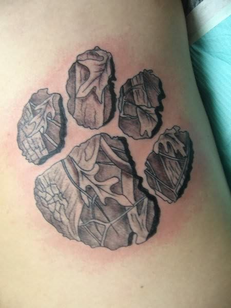 Nice Bear Paw Tattoo