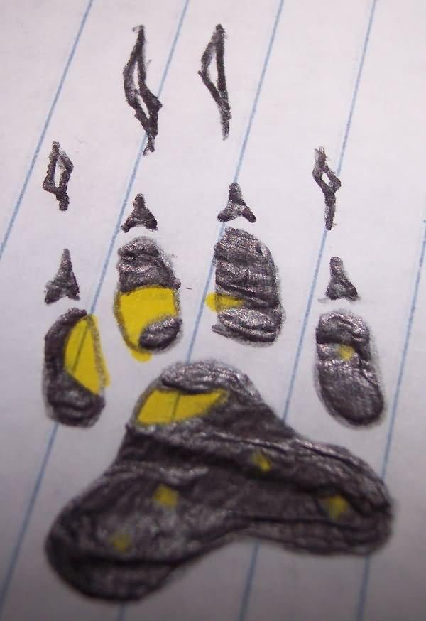 Orignal Paw Print Tattoo