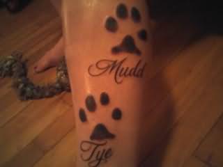 Paw Print Tattoos. Rate Next Tattoo.