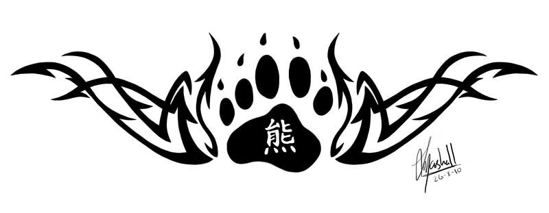 bear tribal paw tattoos Tattoos 18 Page : Paw