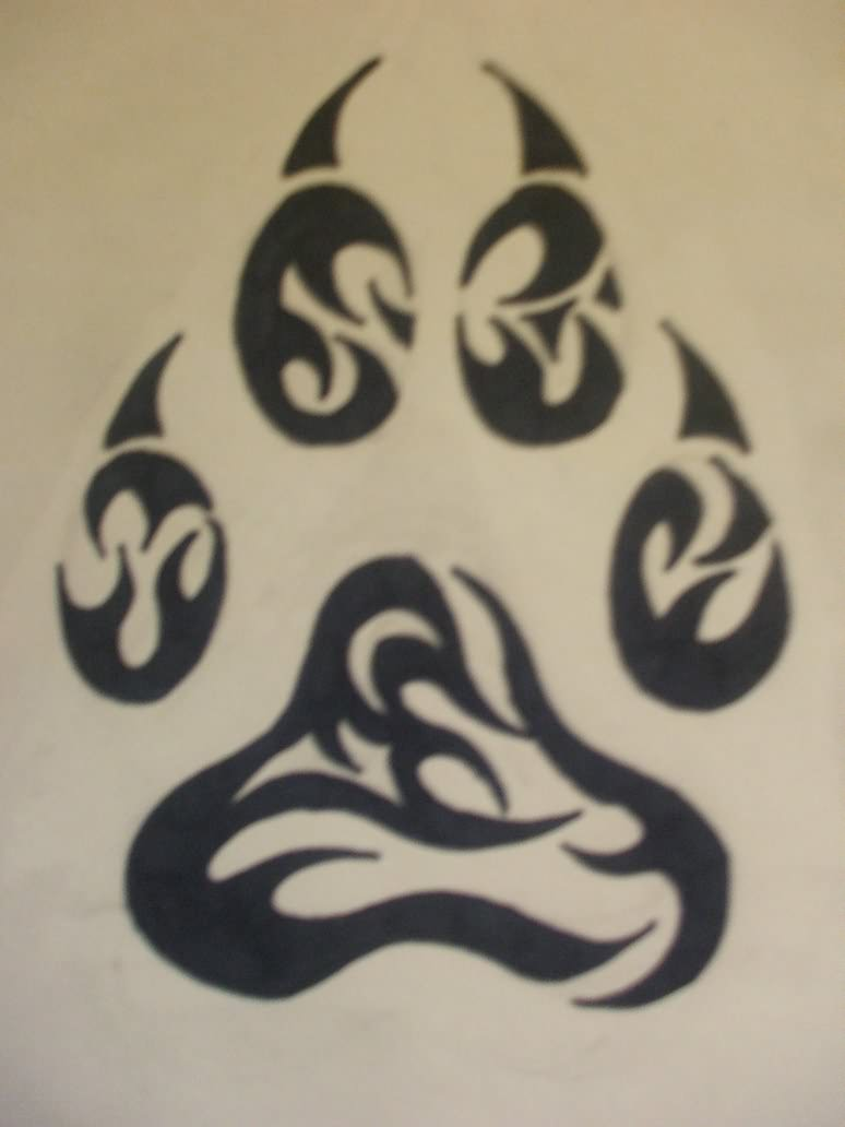 the gallery for gt american wolf paw tattoos