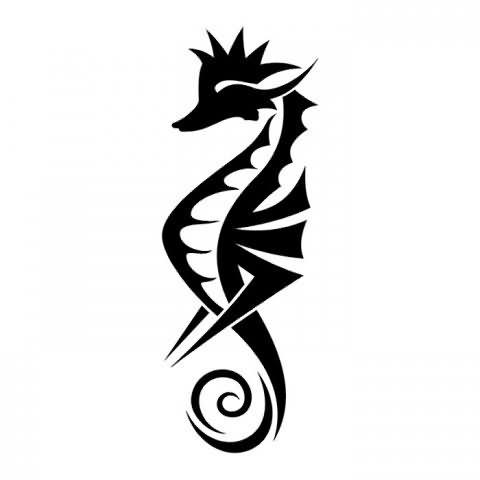 seahorse new design tattoo