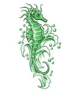 seahorse tattoo images designs