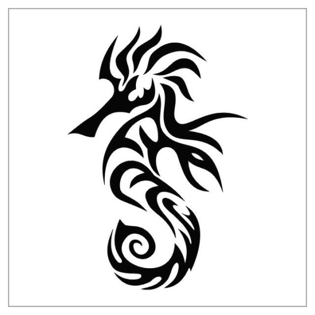 Tribal Seahorse Tattoo Images amp Designs