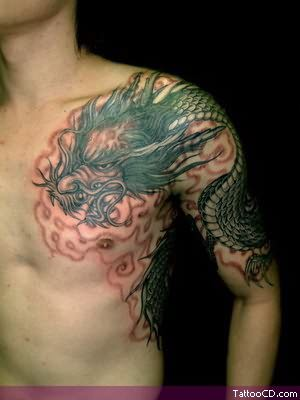 Arm Dragon Tattoos For Men
