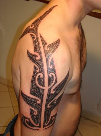 Tribal shark tattoos on pinterest shark tattoos shark tattoo meaning and tattoos and body art - Tatouage tribal signification ...