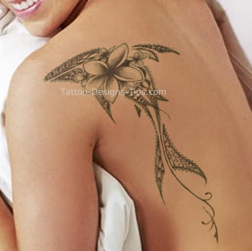 Shark Tattoo Back Shoulder For Girls