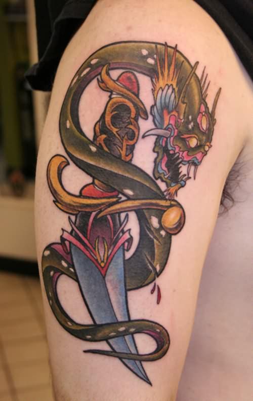arm snake tattoo design. Black Bedroom Furniture Sets. Home Design Ideas