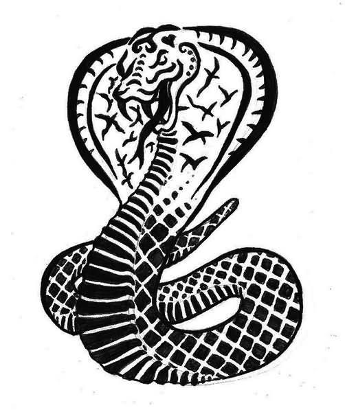 Beautiful Snake Tattoo Design
