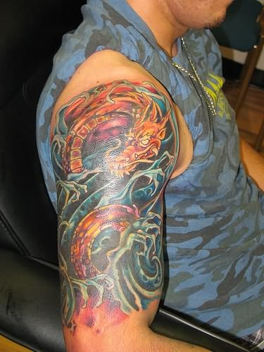 dragon shoulder tattoo Japanese