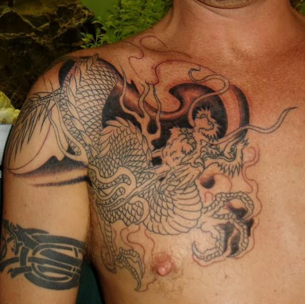 japanese snake tattoo for chest. Black Bedroom Furniture Sets. Home Design Ideas
