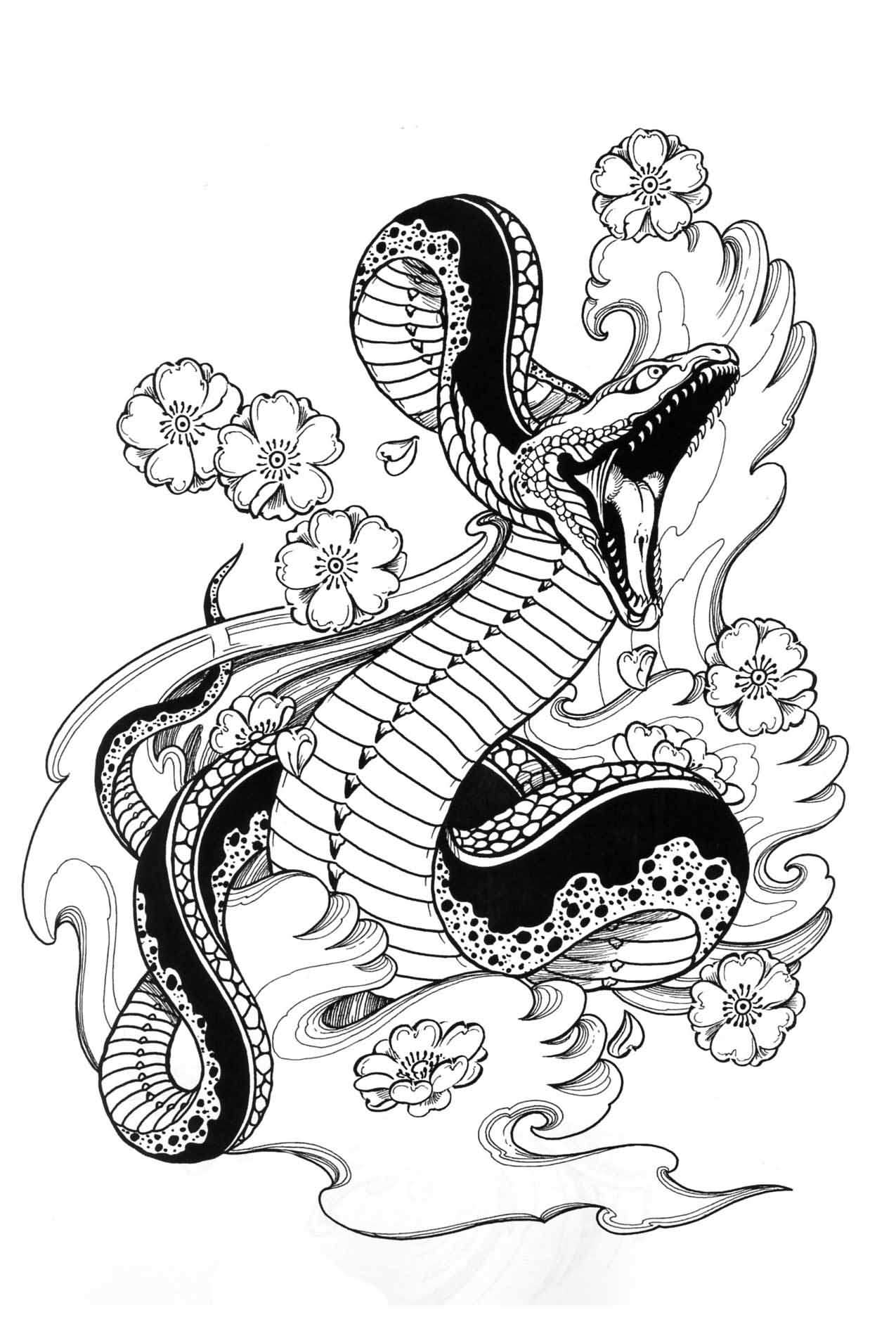 Japanese Snake Tattoo Designs