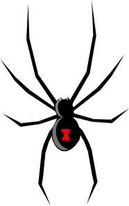 Black Widow Tattoo Design