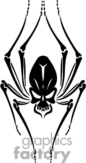 Skull Spider Tattoo Drawing