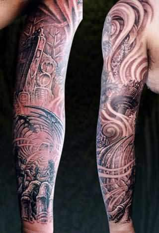 Sleeve Spider Tattoo