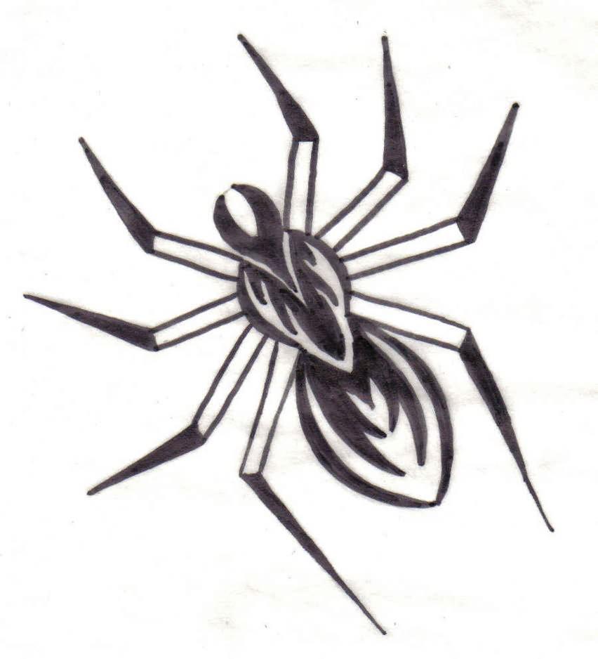 Spider Grey Tattoo Design