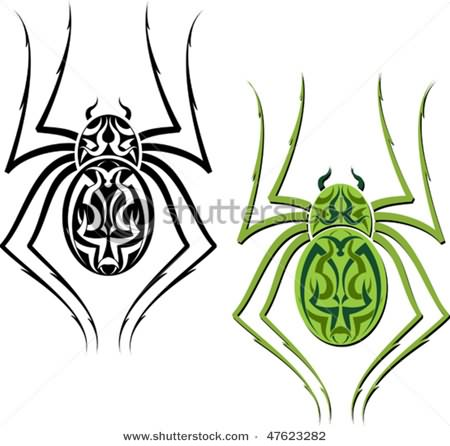 Tribal spider Tattoos Designs