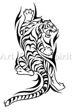 Tribal Tiger Tattoo Design