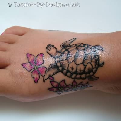 Best Popular Turtle Tattoo On Foot