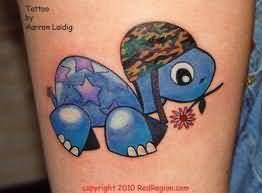 Cute little turtle tattoo for Little turtle tattoo