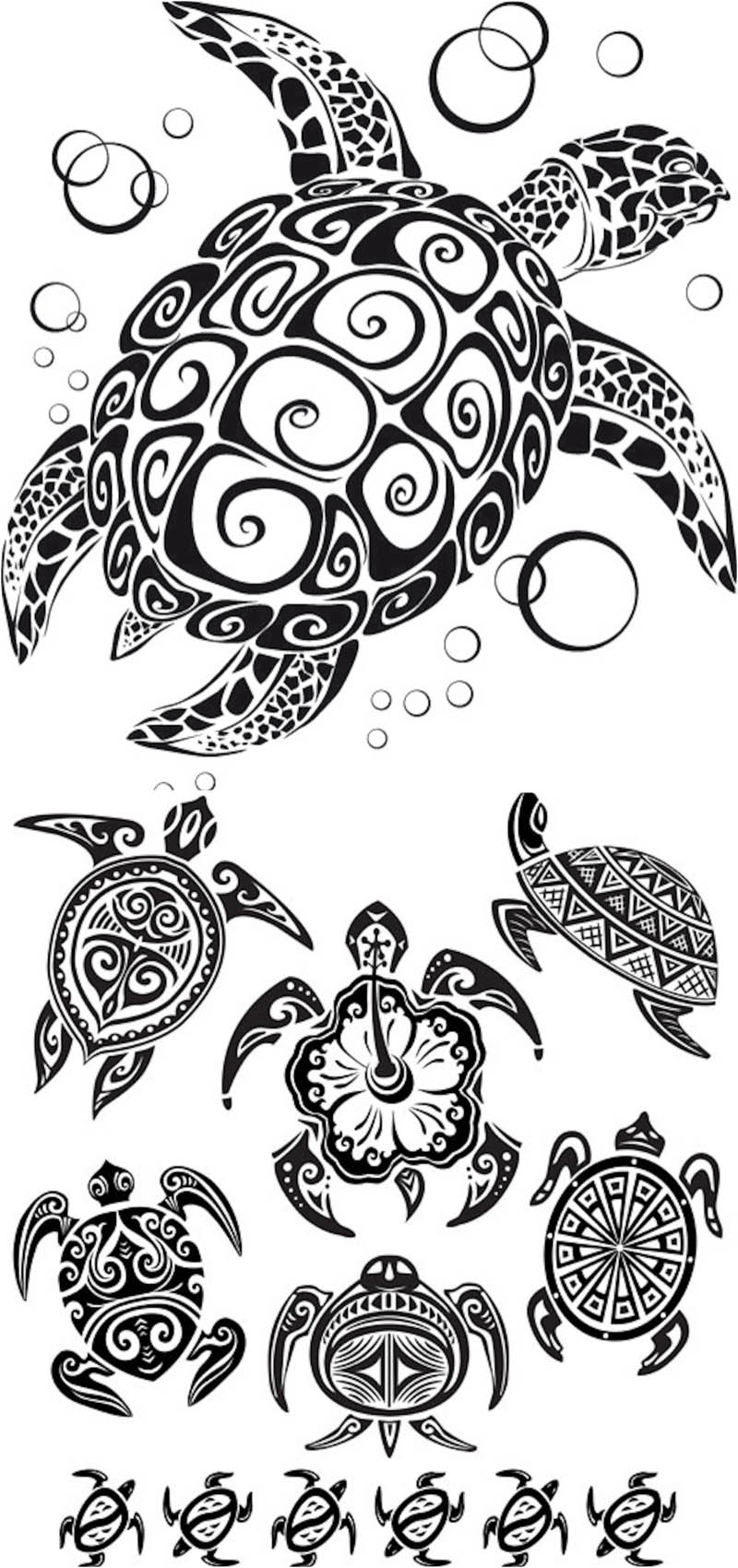 Tribal Turtle Tattoo Designs