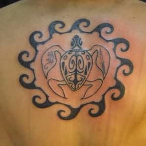 Hawaiian Tribal Turtle Tattoo