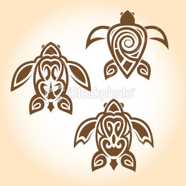 Spider Tatto on Stock Vector Turtle Tattoo Design
