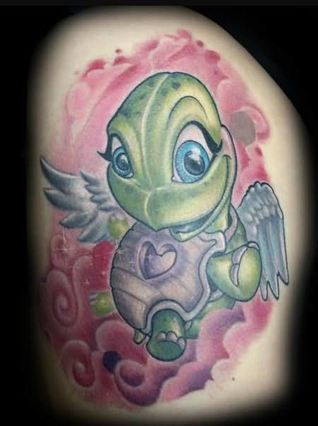 Turtle Angel Tattoo